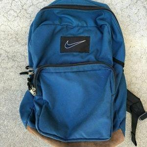 Nike VTG 90s 00s Retro Blue Book Bag Backpack
